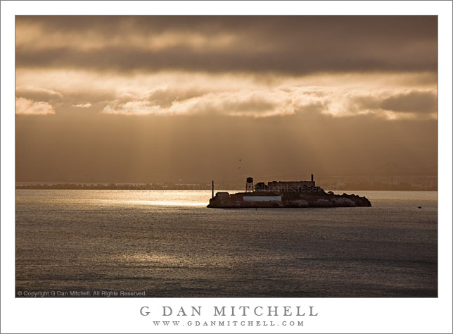 Alcatraz and San Francisco Bay, Morning Light