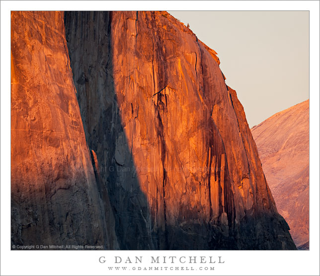 Detail, Last Light on El Capitan