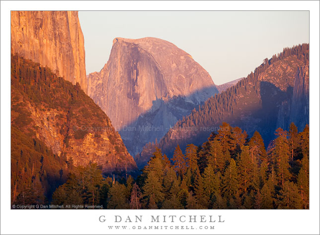 Half Dome Sunset from Big Oak Flat Road