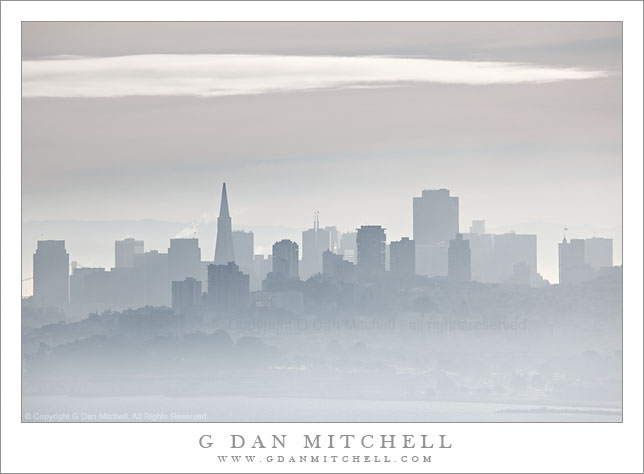 San Francisco Skyline, Winter Fog and Haze