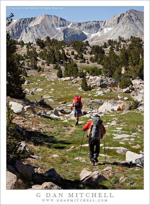 Backpackers, Near MIlestone Basin