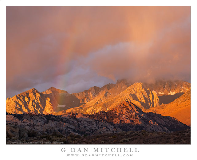 Sunrise Rainbow and Virga Above the Buttermilks