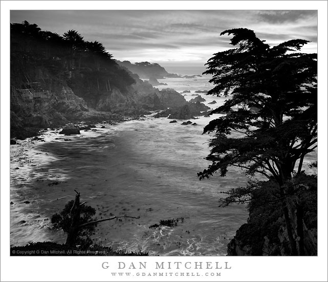 Yankee Point and Cypress, Carmel Highlands, Dusk