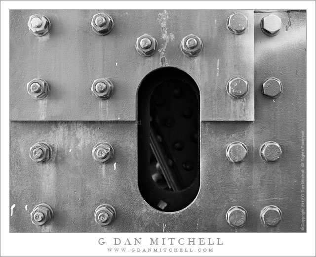 G Dan Mitchell Photograph: Steel Plates and Bolts - San