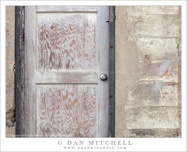G Dan Mitchell Photograph Wooden Door Concrete Wall