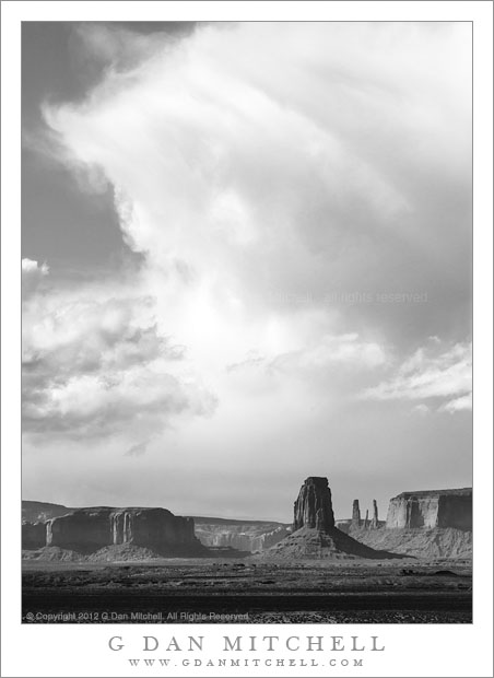 Approaching Storm, Monument Valley - A storm front approaches the iconic towers of Monument Valley Navajo Tribal Park