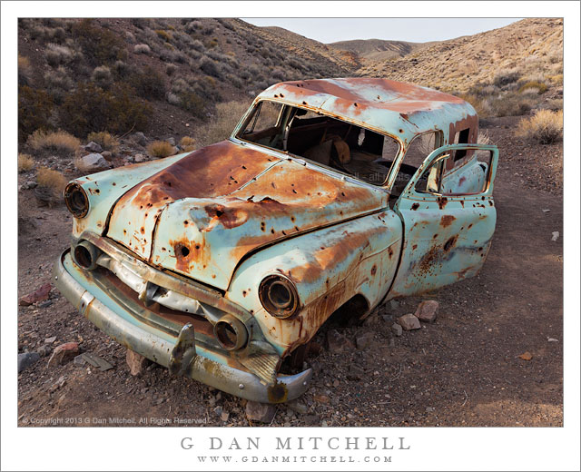 Abandoned Car, Desert Gully