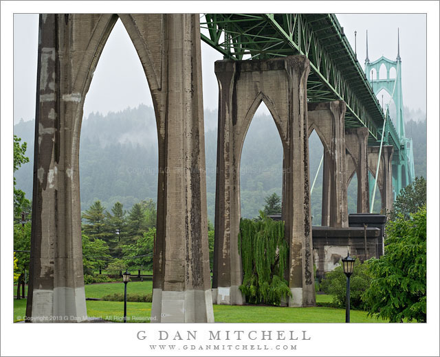 Beneath the St. Johns Bridge