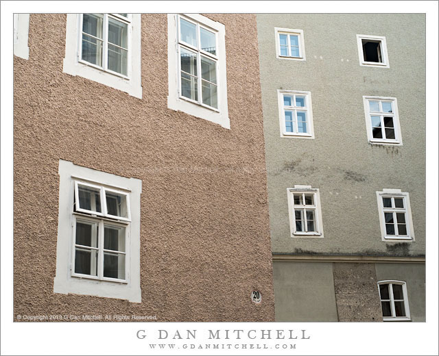 Windows and Stucco Walls