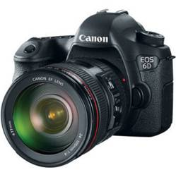 Canon 6D DSLR with Canon 24-105mm f/4L IS
