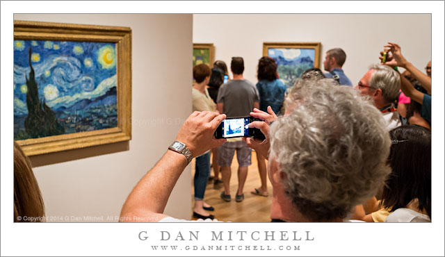 Photographing Van Gogh