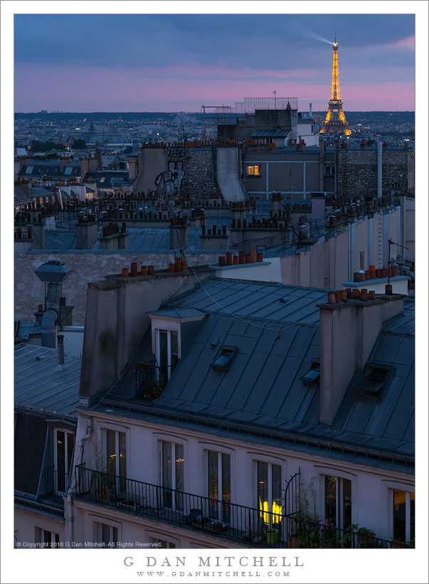 g dan mitchell photograph rooftops of paris twilight. Black Bedroom Furniture Sets. Home Design Ideas